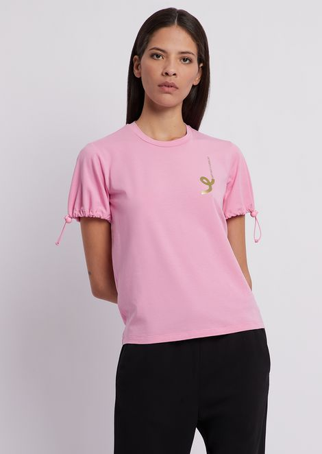 T-shirt in stretch modal cotton jersey