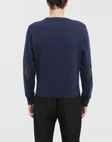 SWEATERS Décortiqué elbow patch sweatshirt Blue