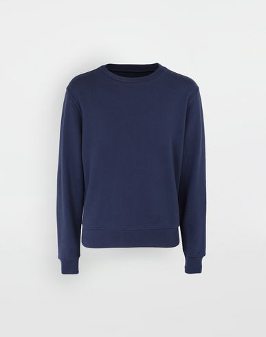 KNITWEAR Décortiqué elbow patch sweatshirt Blue