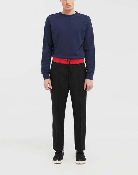 MAISON MARGIELA Décortiqué elbow patch sweatshirt Sweatshirt Man d
