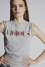 DSQUARED2 Cotton Viscose Jersey Vicious T-Shirt Short sleeve t-shirt Woman
