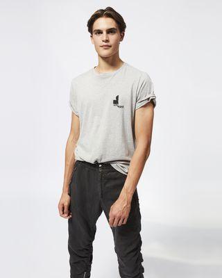 ISABEL MARANT LOGO T-SHIRT Man ZAFFERH T-shirt r