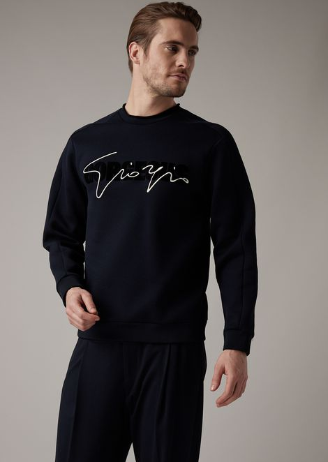 Gorgeous sweatshirt with flocked print on the front