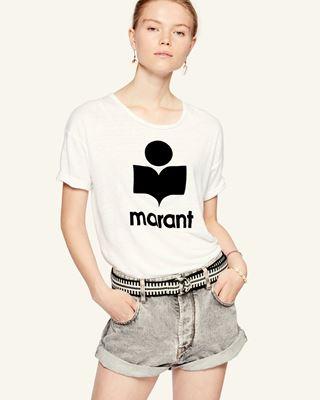 ISABEL MARANT ÉTOILE LOGO T-SHIRT Woman KOLDI T-shirt r