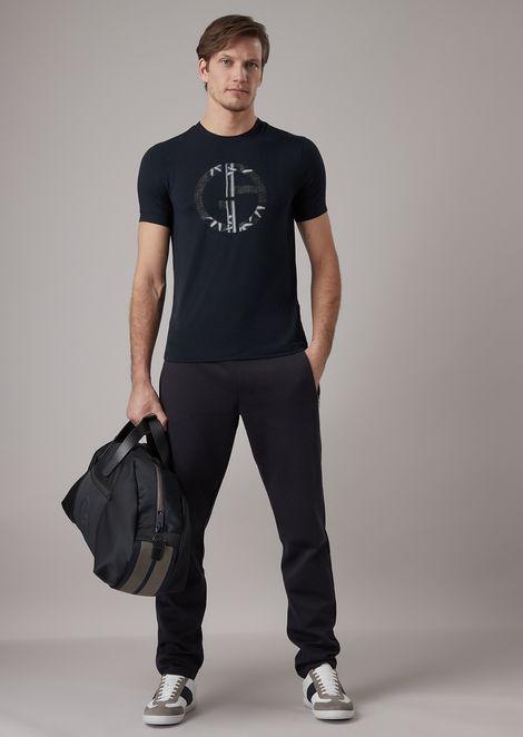 T-shirt en viscose stretch avec imprimé bambou