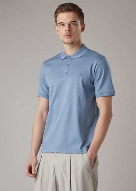 Polo in micropiquet di cotone stretch
