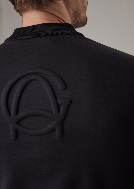 Double jersey bomber jacket with exclusive logo on the back