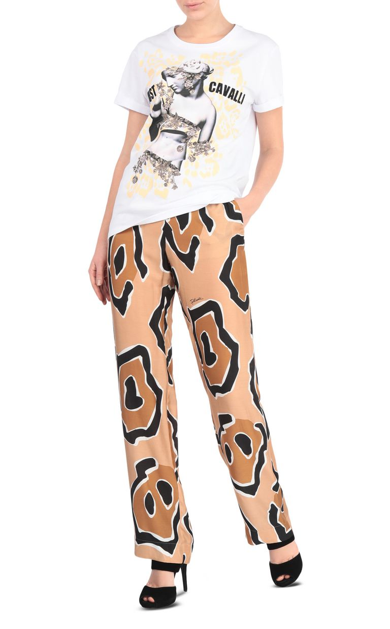 JUST CAVALLI T-shirt with Venus print design Short sleeve t-shirt Woman d