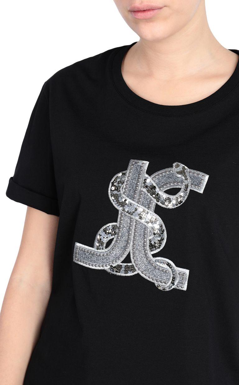 JUST CAVALLI T-shirt with logo print Short sleeve t-shirt Woman e