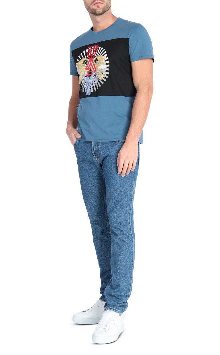 JUST CAVALLI Leopard-head t-shirt Short sleeve t-shirt Man d