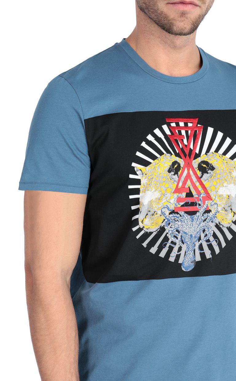 JUST CAVALLI Leopard-head t-shirt Short sleeve t-shirt Man e