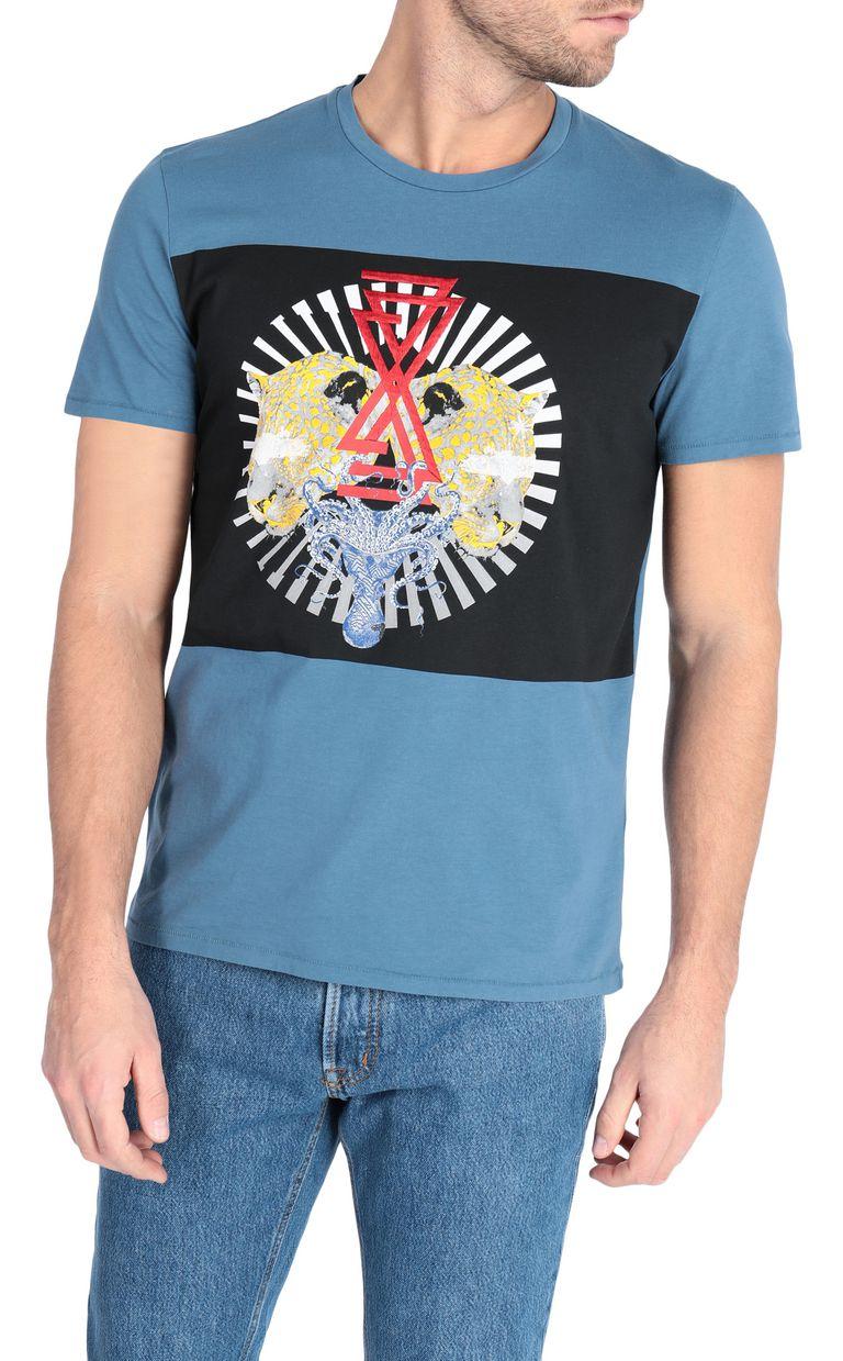 JUST CAVALLI Leopard-head t-shirt Short sleeve t-shirt Man f