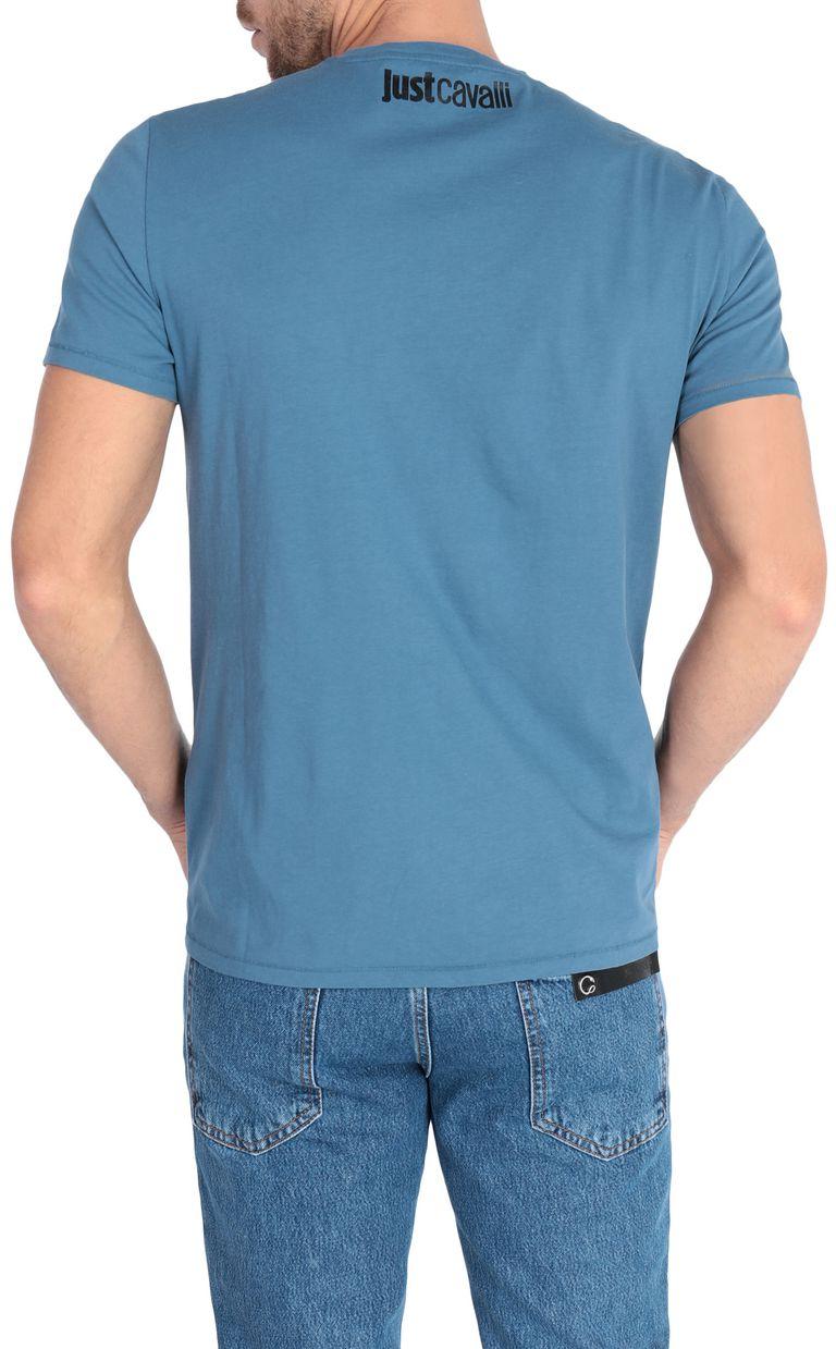 JUST CAVALLI Leopard-head t-shirt Short sleeve t-shirt Man r
