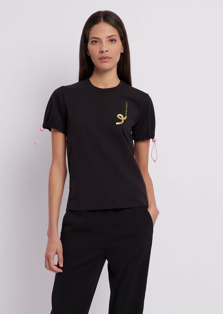 22a508aa49 T-shirt in jersey di cotone modal stretch