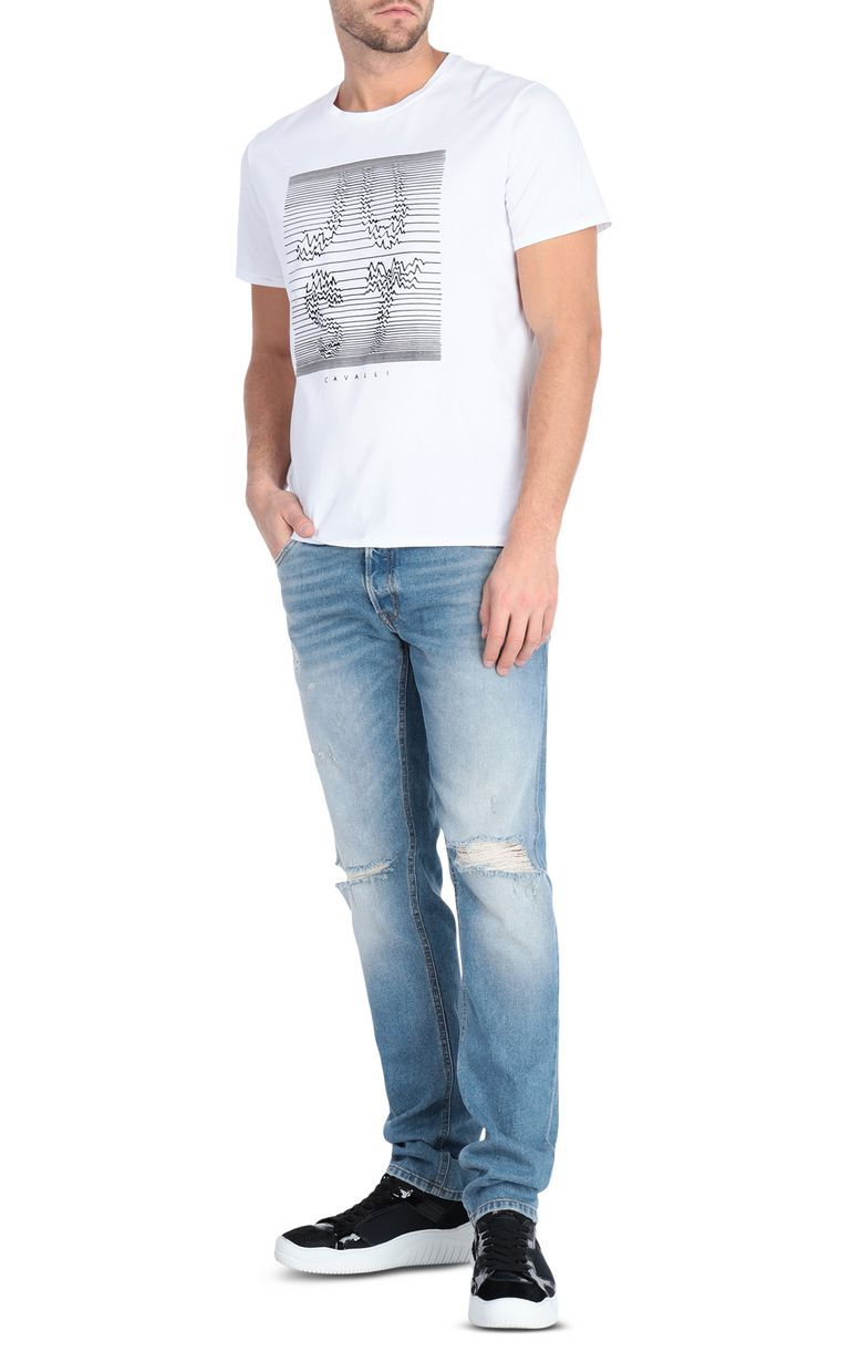 JUST CAVALLI T-shirt with logo print design Short sleeve t-shirt Man d