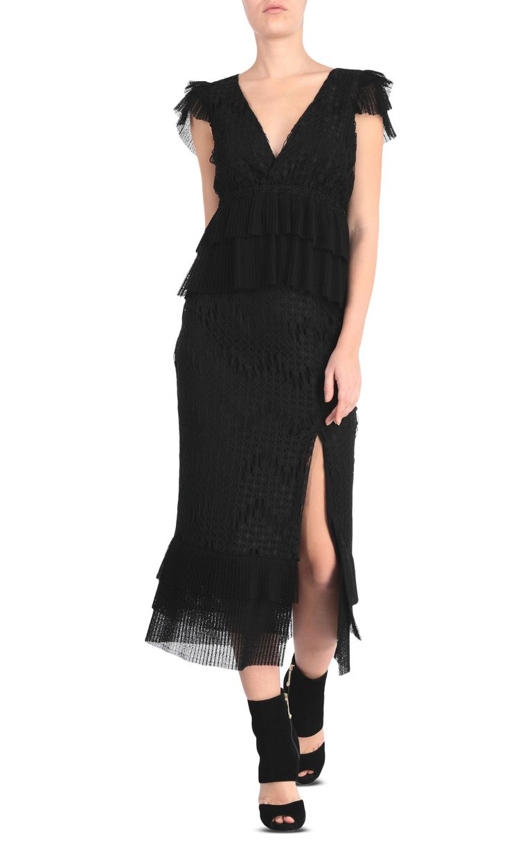 JUST CAVALLI Embroidered black top Top Woman d