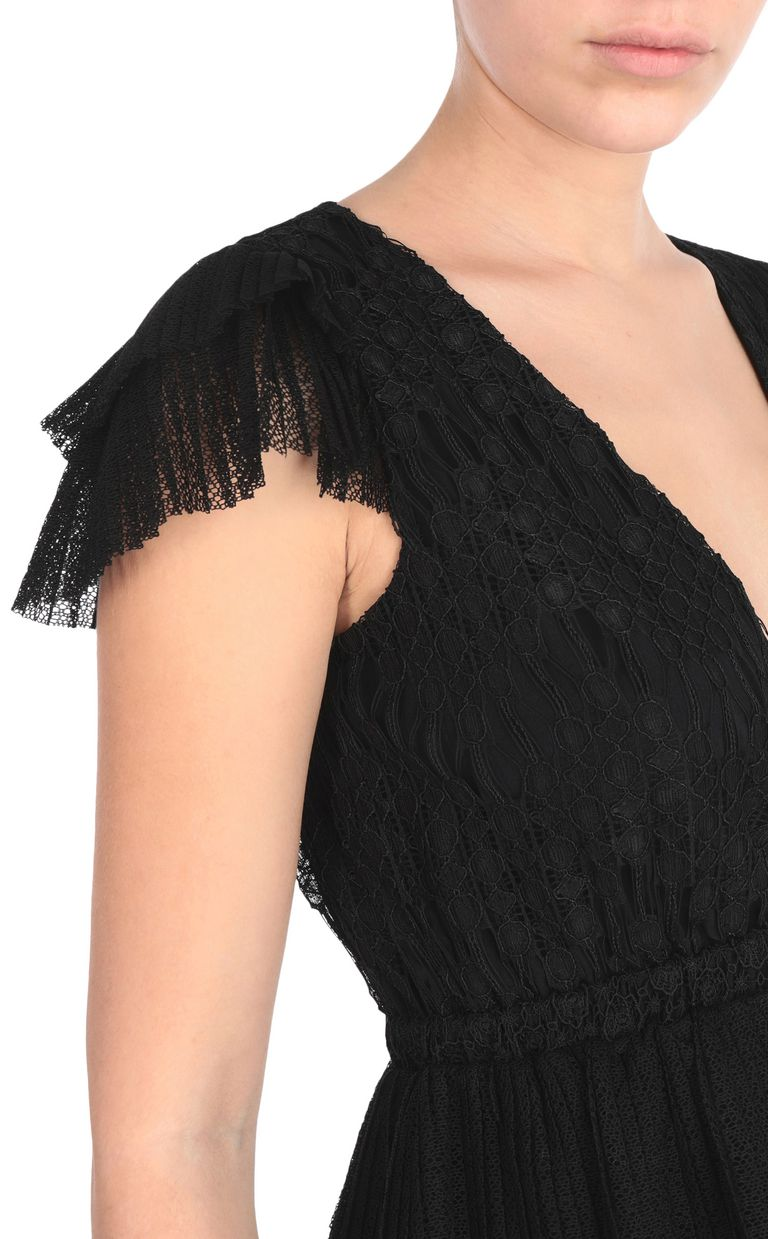 JUST CAVALLI Embroidered black top Top [*** pickupInStoreShipping_info ***] e