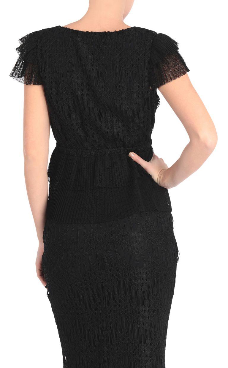 JUST CAVALLI Embroidered black top Top [*** pickupInStoreShipping_info ***] r