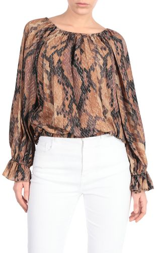 JUST CAVALLI Top [*** pickupInStoreShipping_info ***] Python-print top f