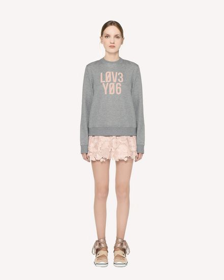 """Love You"" printed  sweatshirt"
