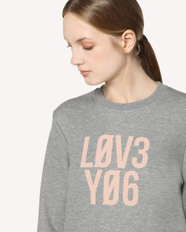 "REDValentino ""Love You"" printed  sweatshirt"