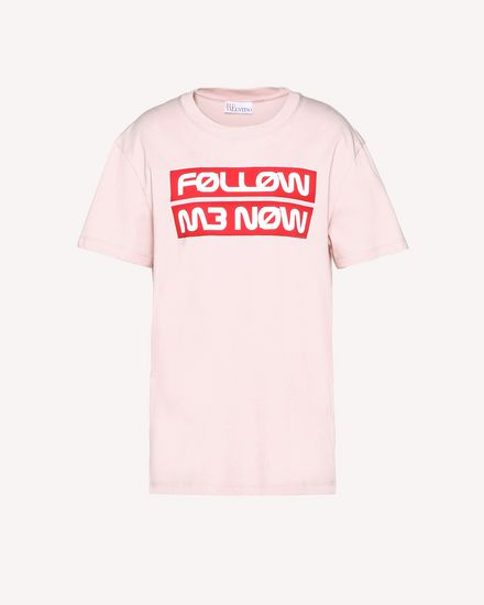 """Follow Me Now"" printed  T-shirt"