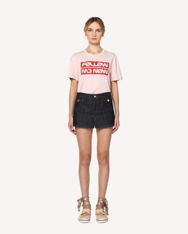 "REDValentino T-Shirt mit ""Follow Me Now""-Print"
