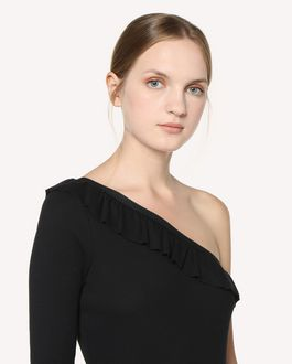 REDValentino One-shoulder jersey top