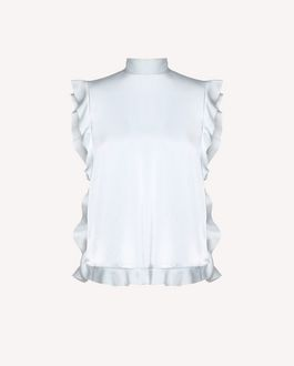 REDValentino Ruffle detail Fluid Satin top