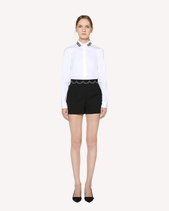 "REDValentino ""Follow Me Now"" embroidered Cotton Poplin shirt"