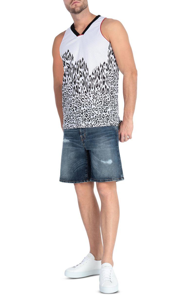JUST CAVALLI Leopard-print vest top Sleeveless t-shirt Man d