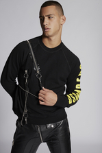 DSQUARED2 Dsquared2 Sweatshirt With Zip and Chain Details Sweatshirt Man