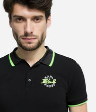 KARL LAGERFELD Polo à logo fluo T-shirt Homme r
