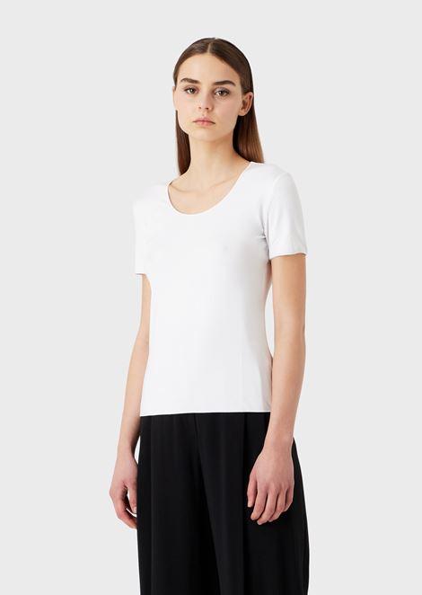 T-Shirt aus Viskosejersey mit Stretch