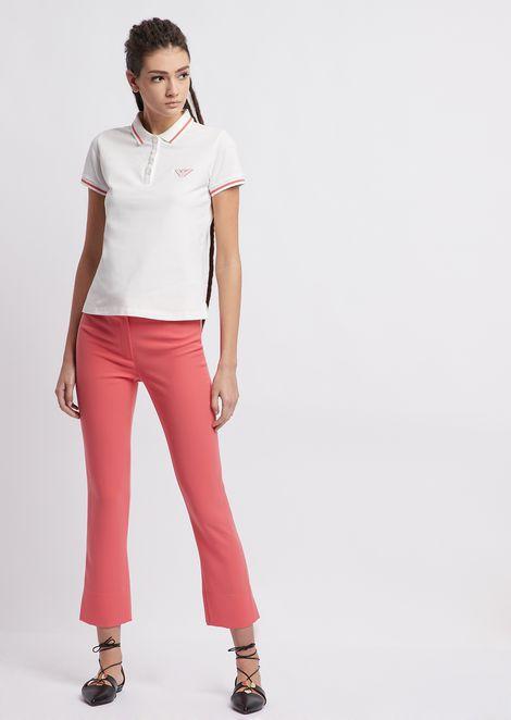 Cotton piqué polo shirt with contrasting details