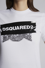 DSQUARED2 Dsquared2 Lace Insert T-Shirt Short sleeve t-shirt Woman
