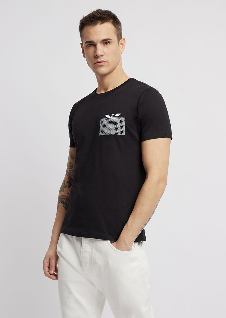 96948f9a920 T-shirt in jersey with water-based print on the chest