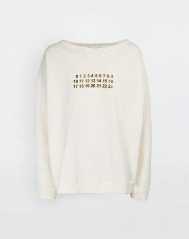 MAISON MARGIELA Sweatshirt [*** pickupInStoreShippingNotGuaranteed_info ***] Maison logo print jersey sweatshirt f