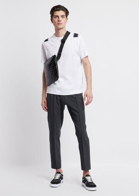 T-shirt coupe classique en jersey de coton mercerisé avec bande logo au dos
