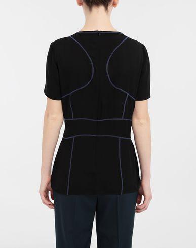 TOPS & TEES Stitch-jacquard silk georgette top