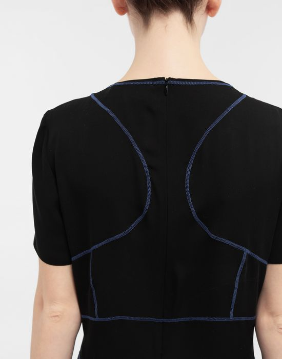MAISON MARGIELA Stitch-jacquard silk georgette top Top [*** pickupInStoreShipping_info ***] b