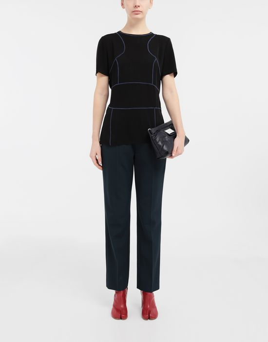 MAISON MARGIELA Stitch-jacquard silk georgette top Top [*** pickupInStoreShipping_info ***] d