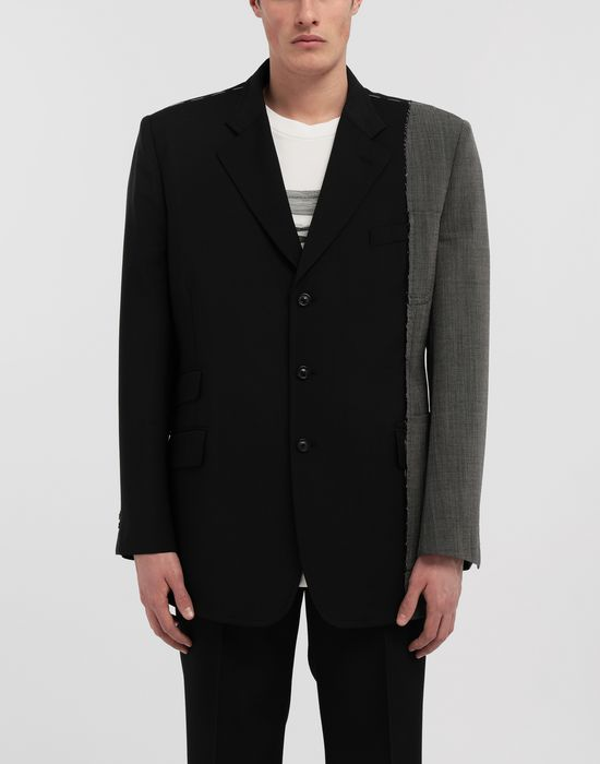 MAISON MARGIELA Spliced wool jacket Blazer [*** pickupInStoreShippingNotGuaranteed_info ***] r