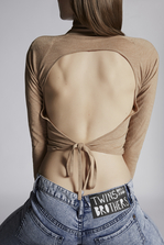 DSQUARED2 Backless Wool Pollover Pullover Woman