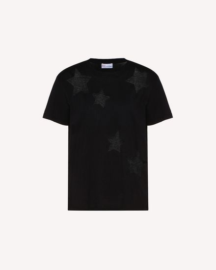 Point d'Esprit stars detailed T-shirt