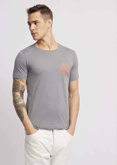27f171acd1315 T-shirt in jersey with water-based print on the chest