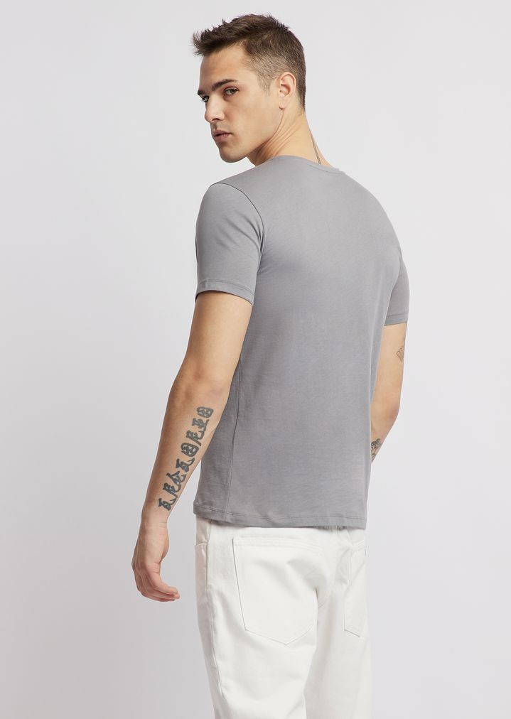 0cd961cf3d1 ... T-shirt in jersey with water-based print on the chest. EMPORIO ARMANI