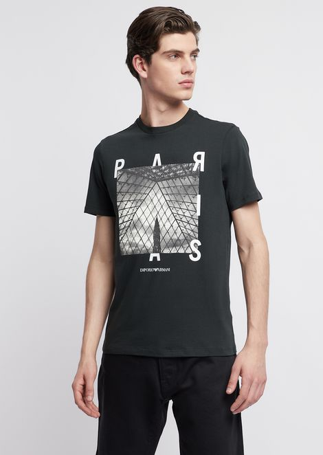 T-shirt in jersey with city print on the front