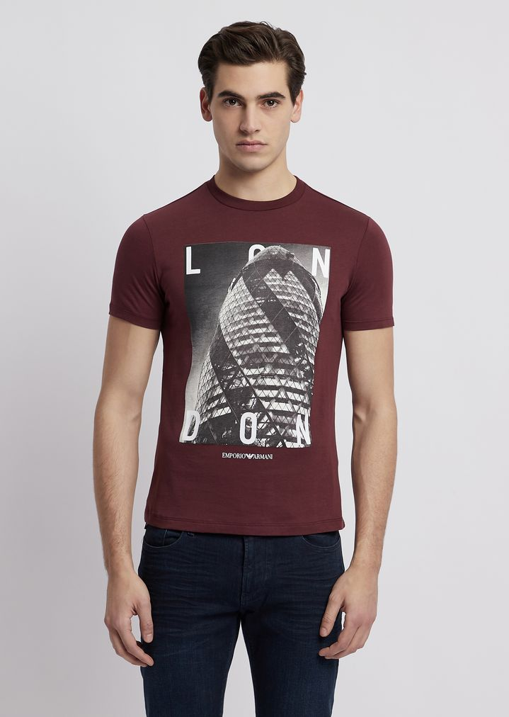 ff65594a6b T-shirt in jersey with city print on the front