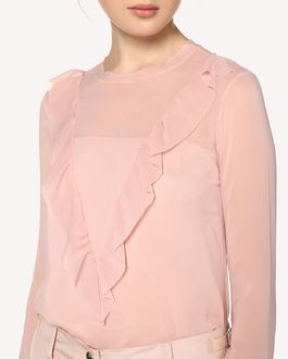 REDValentino Ruffle detail Silk top
